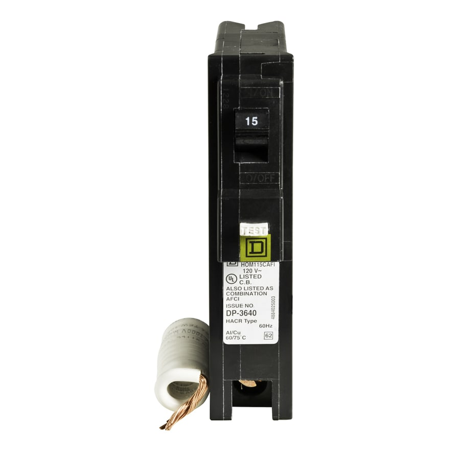 Square D by Schneider Electric HOM115PDFC Homeline Plug-On Neutral 15 Amp Single-Pole Dual Function Circuit Breaker, CAFCI and GFCI
