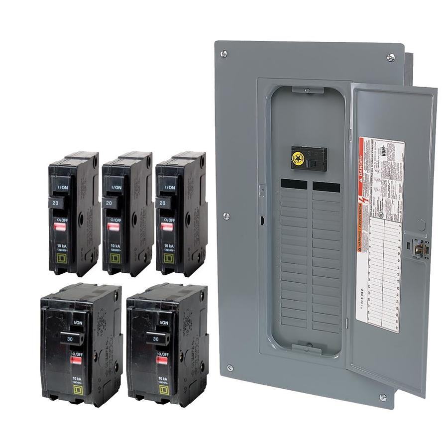 Square D 32-Circuit 32-Space 100-Amp Main Breaker Load Center (Value Pack)