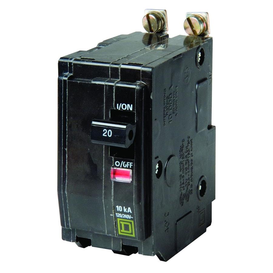 Shop square d qo 20 amp 2 pole circuit breaker at for Bathroom 20 amp circuit