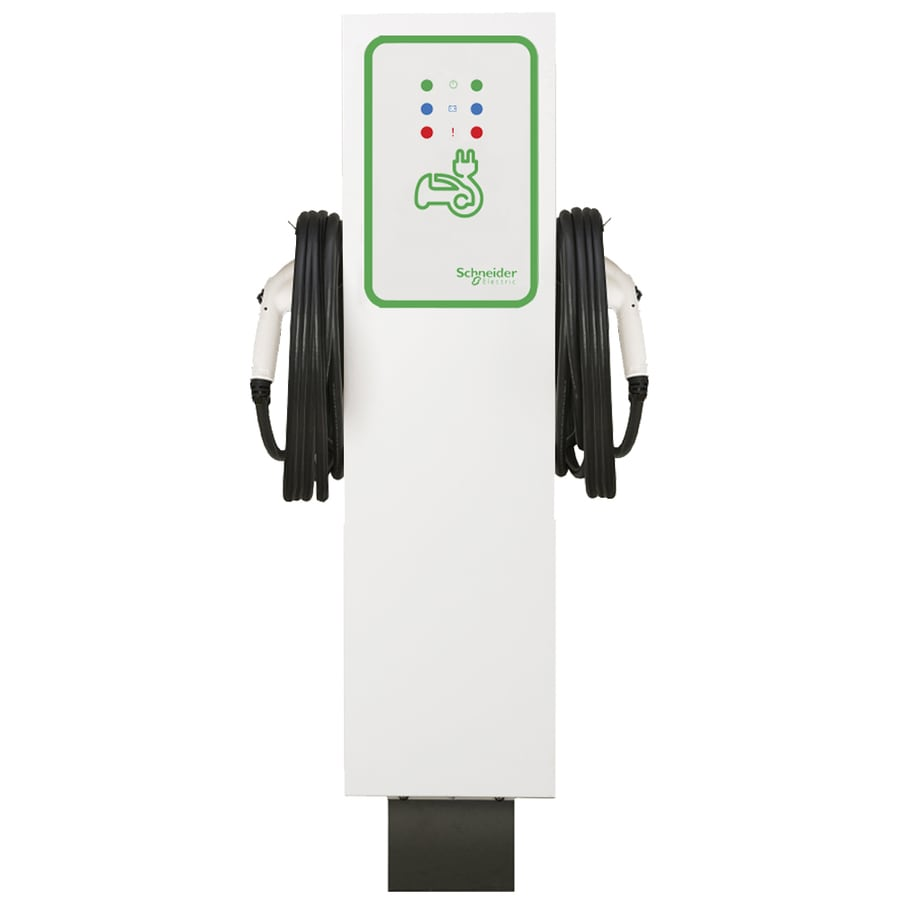Schneider Electric Evlink Level 2 30-Amp Freestanding Dual Electric Car Charger