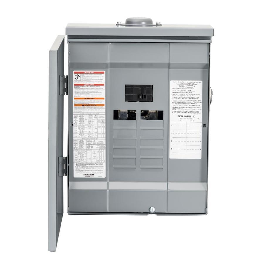 Square D 16-Circuit 8-Space 125-Amp Main Breaker Load Center