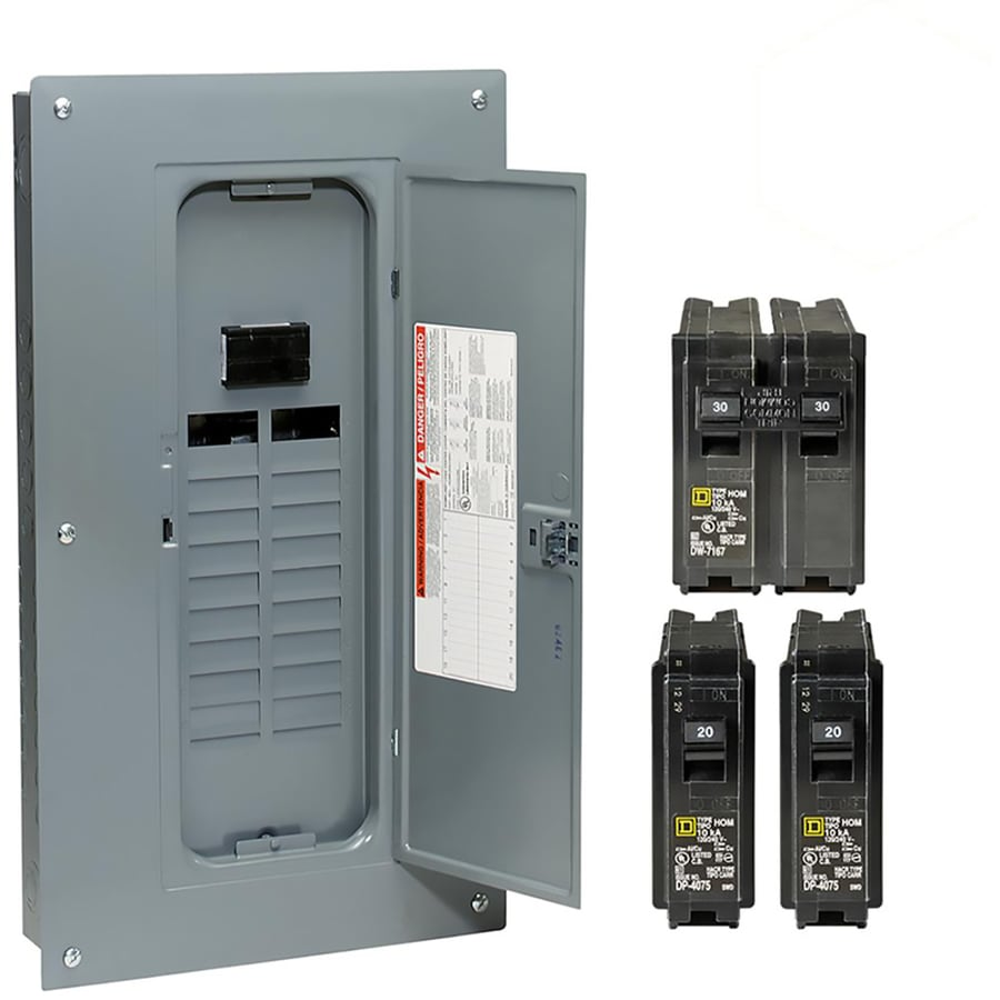Square D 40-Circuit 20-Space 100-Amp Main Breaker Load Center (Value Pack)