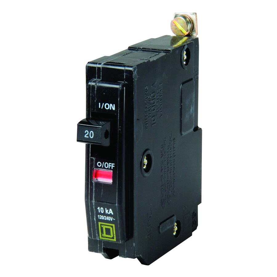 Square D QO 20-Amp 1-Pole Circuit Breaker