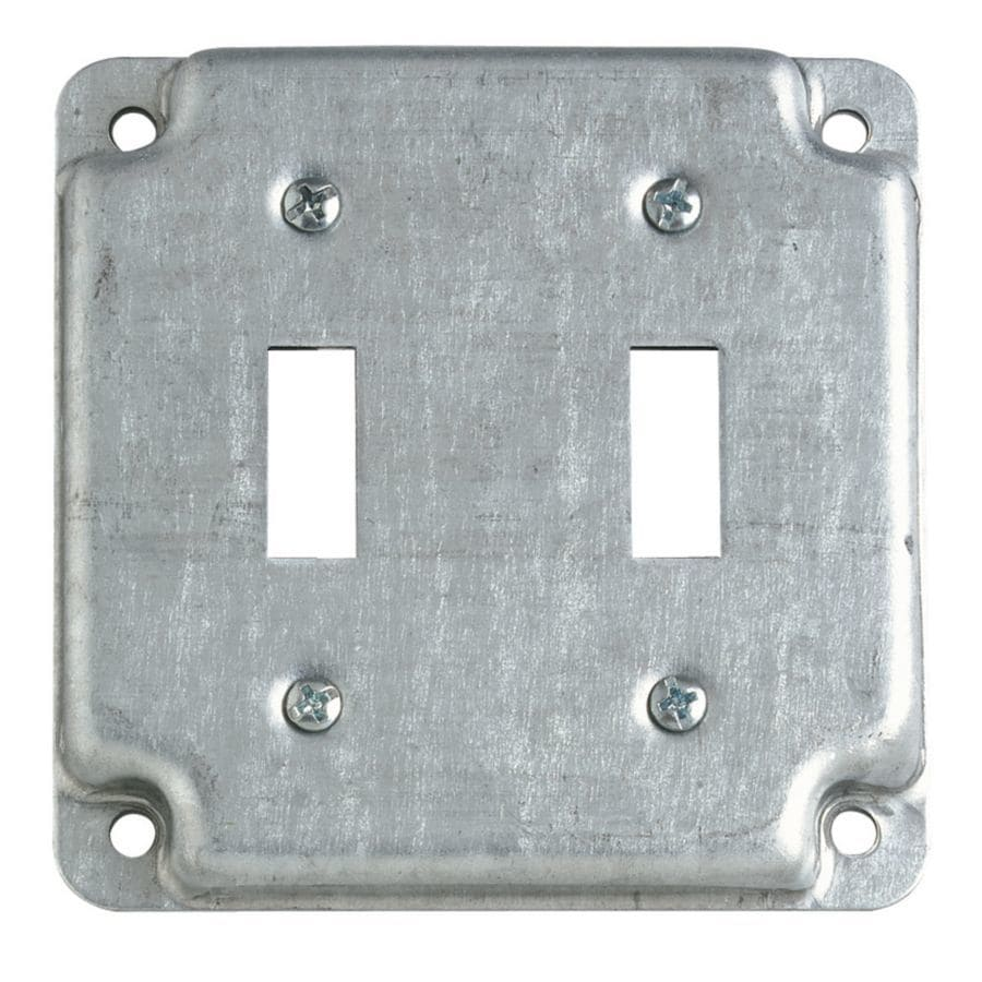 STEEL CITY 2-Gang Square Metal Electrical Box Cover