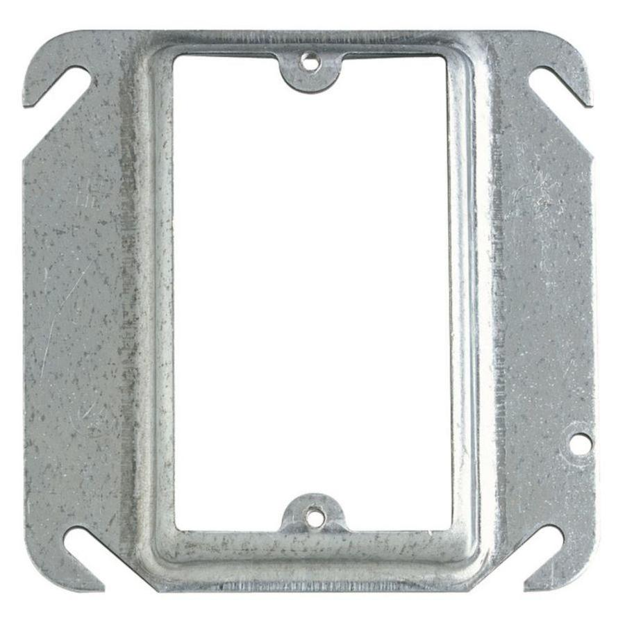 STEEL CITY 4-cu in 1-Gang Metal Square Wall Electrical Box