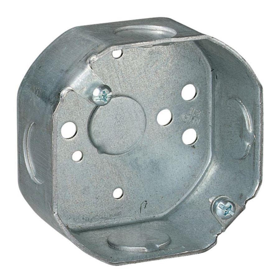 STEEL CITY 11.8-cu in Metal Round Wall Electrical Box