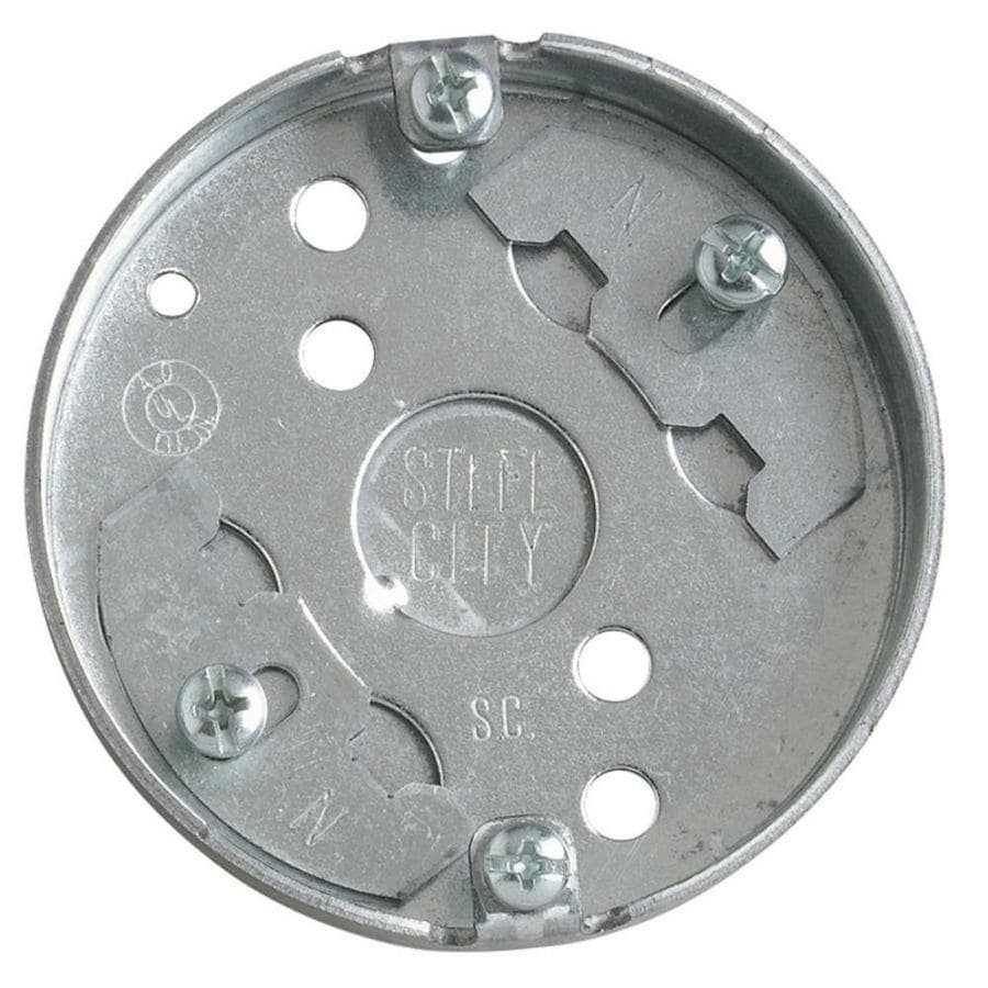 STEEL CITY 4-cu in Metal Round Wall Electrical Box