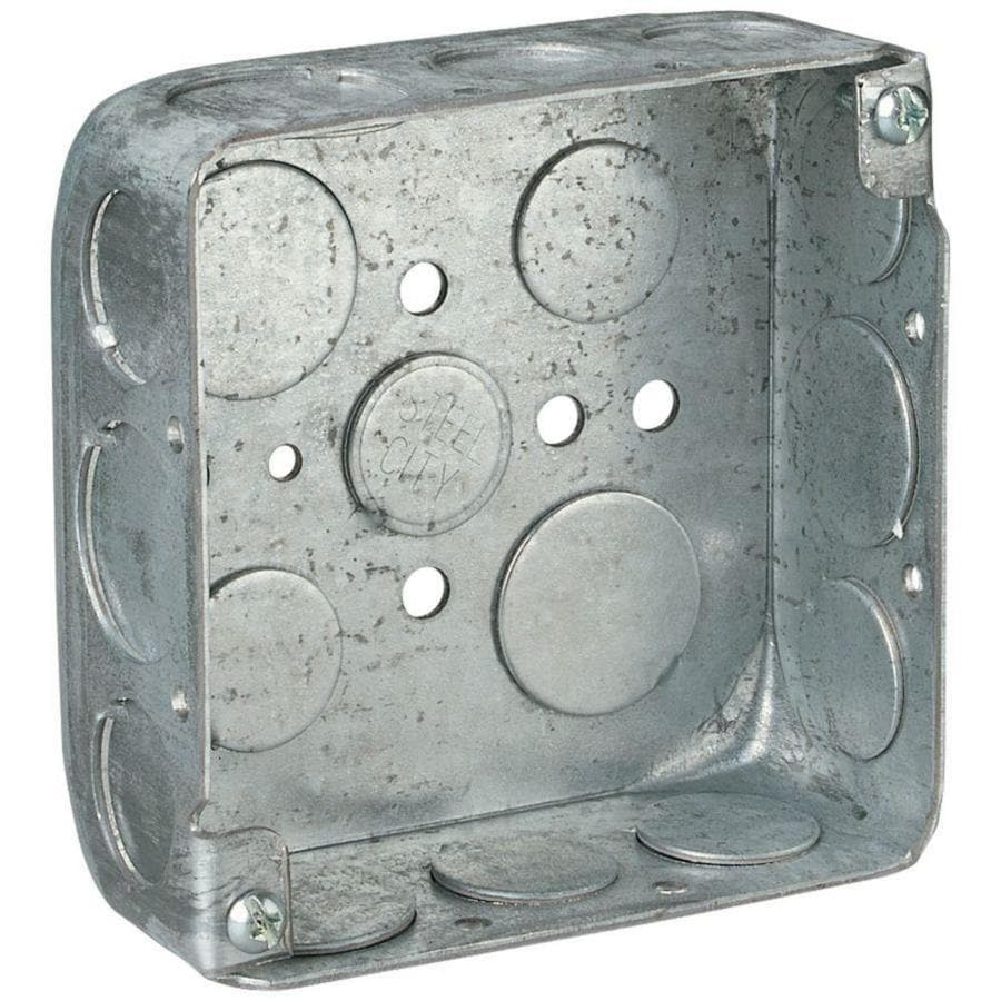 STEEL CITY 21-cu in 2-Gang Metal Square Wall Electrical Box