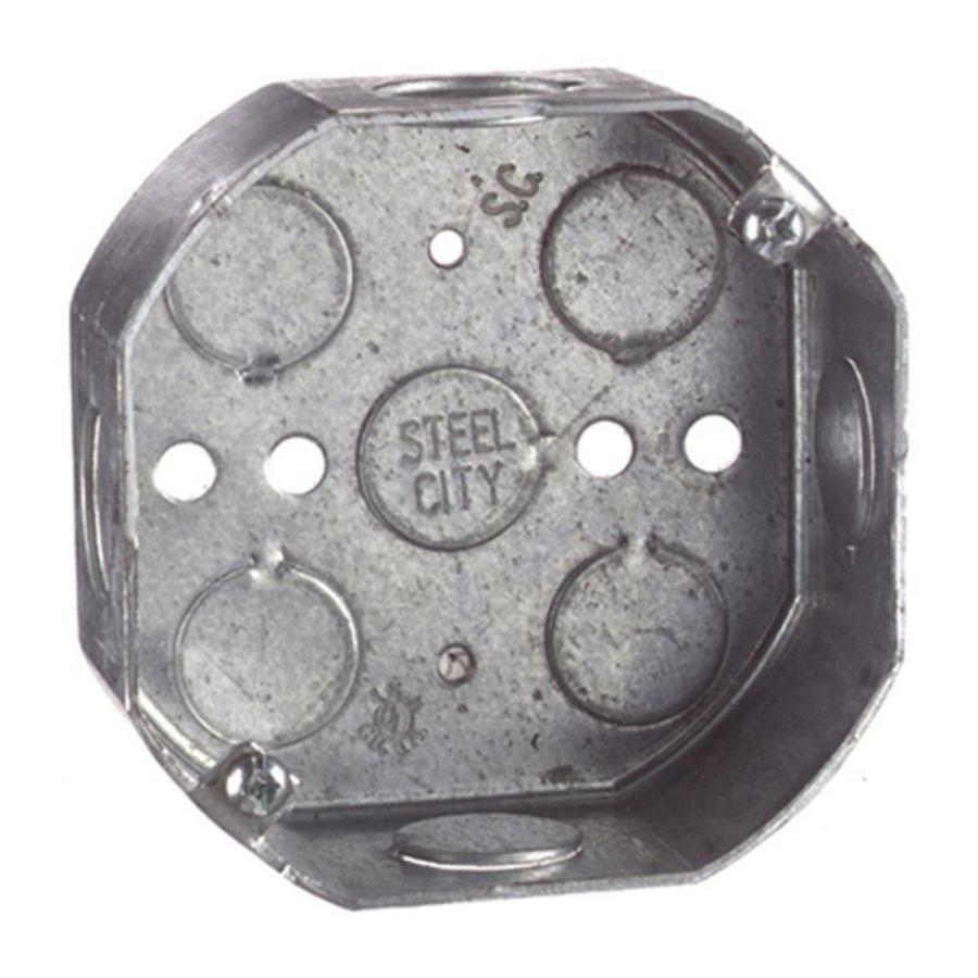 STEEL CITY 15.8-cu in Metal Old Work Wall Electrical Box