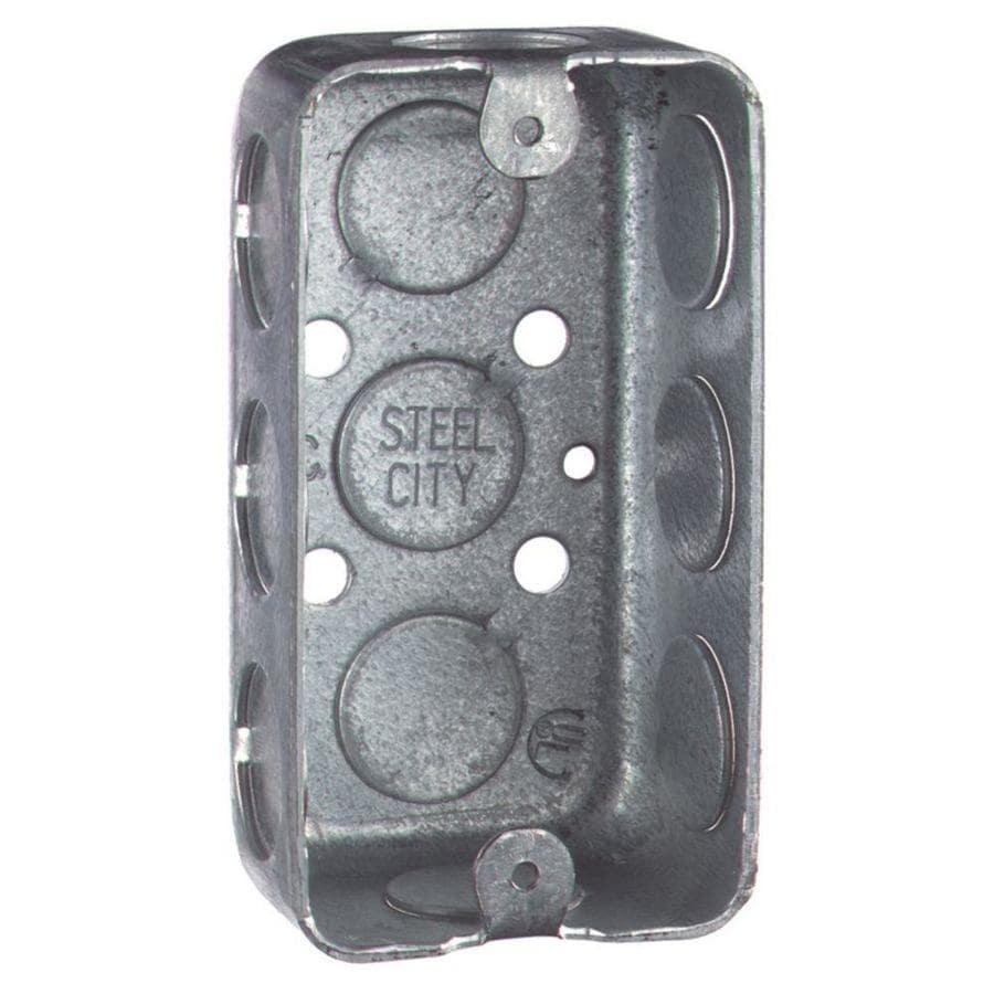 STEEL CITY 10.3-cu in 1-Gang Metal Handy Wall Electrical Box