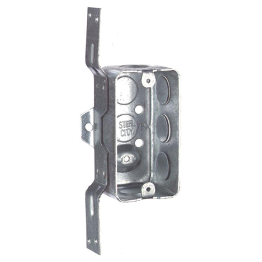 STEEL CITY 13-cu in 1-Gang Metal Handy Wall Electrical Box