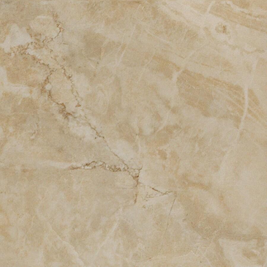 12-in x 12-in Augustus Ivory Glazed Porcelain Floor Tile