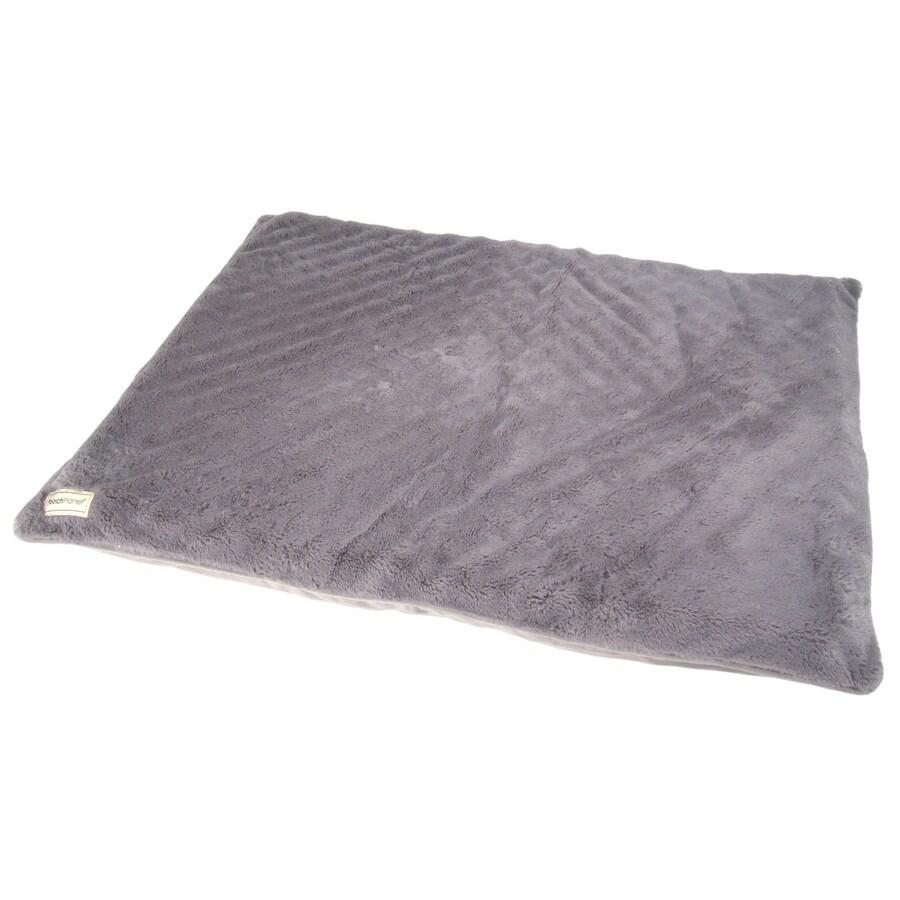 PoochPlanet Cream Polyester Rectangular Dog Bed