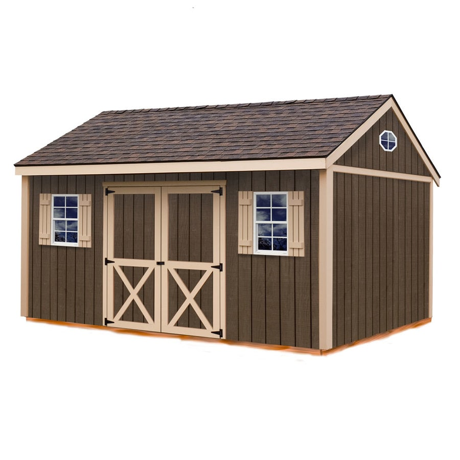 Brookfield Without Floor Gable Engineered Wood Storage Shed (Common: 12-ft x 16-ft; Interior Dimensions: 11.42-ft x 15.17-ft) Product Photo