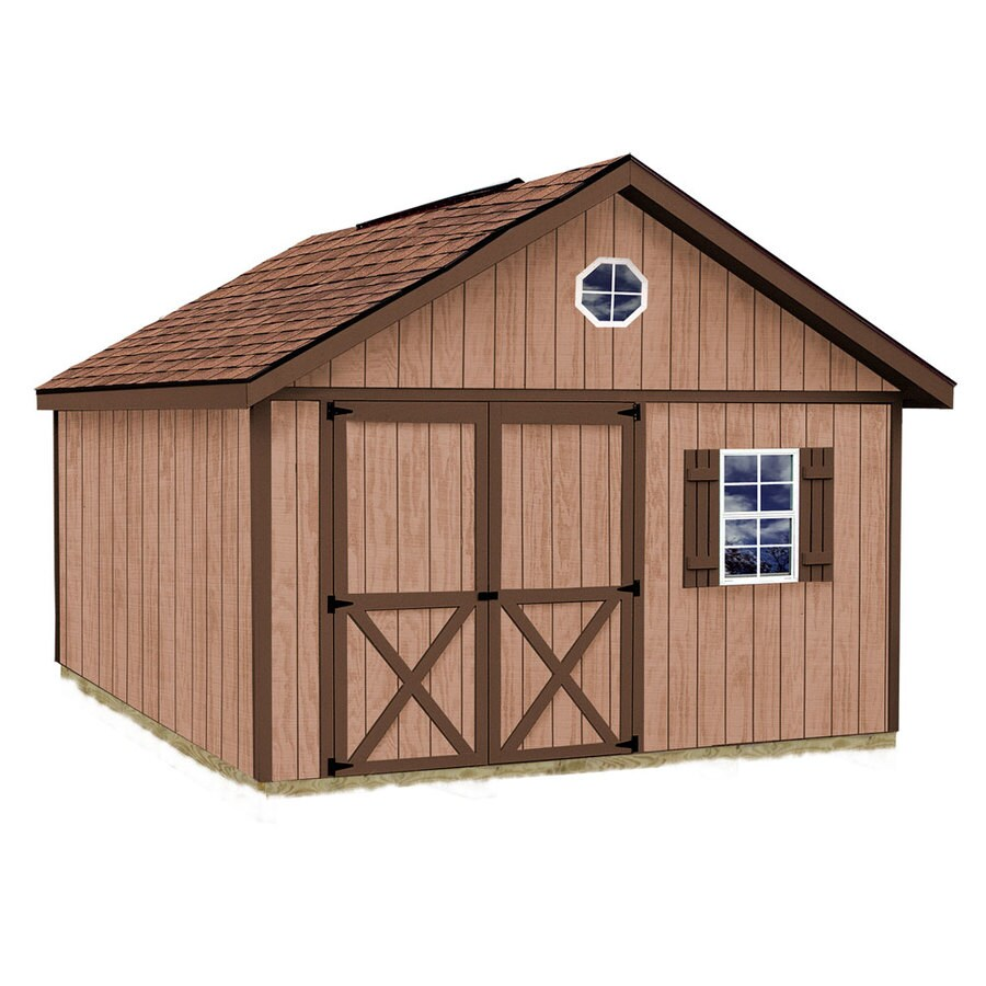 Best Barns Brandon Without Floor Gable Engineered Wood Storage Shed (Common: 12-ft x 12-ft; Interior Dimensions: 11.42-ft x 11.42-ft)