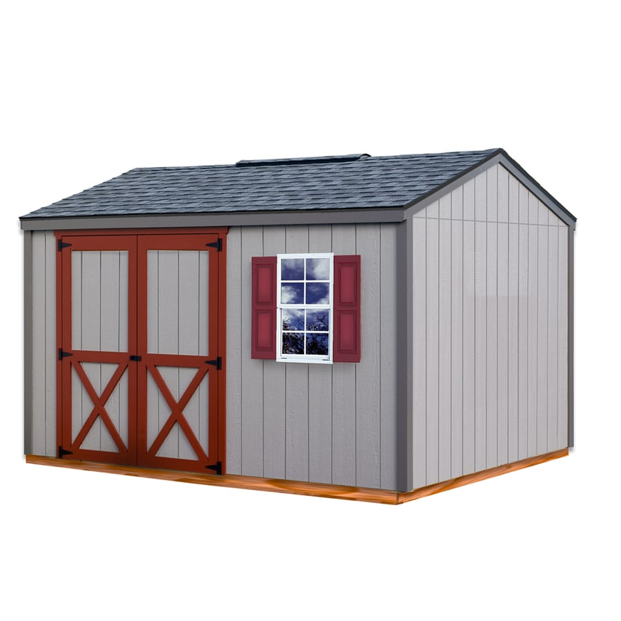 Best Barns Cypress without Floor Gable Engineered Wood Storage Shed (Common: 10-ft x 12-ft; Interior Dimensions: 9.42-ft x 11.42-ft)