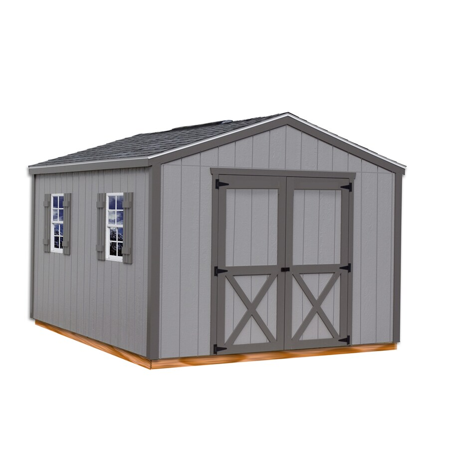 Best Barns Elm without Floor Gable Engineered Wood Storage Shed (Common: 10-ft x 12-ft; Interior Dimensions: 9.42-ft x 11.42-ft)