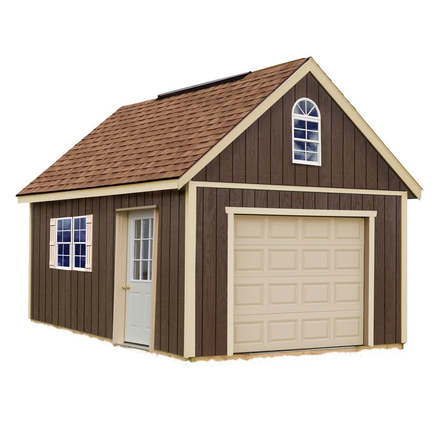 Best Barns Glenwood Without Floor Gable Engineered Wood Storage Shed (Common: 12-ft x 16-ft; Interior Dimensions: 11.42-ft x 15.17-ft)