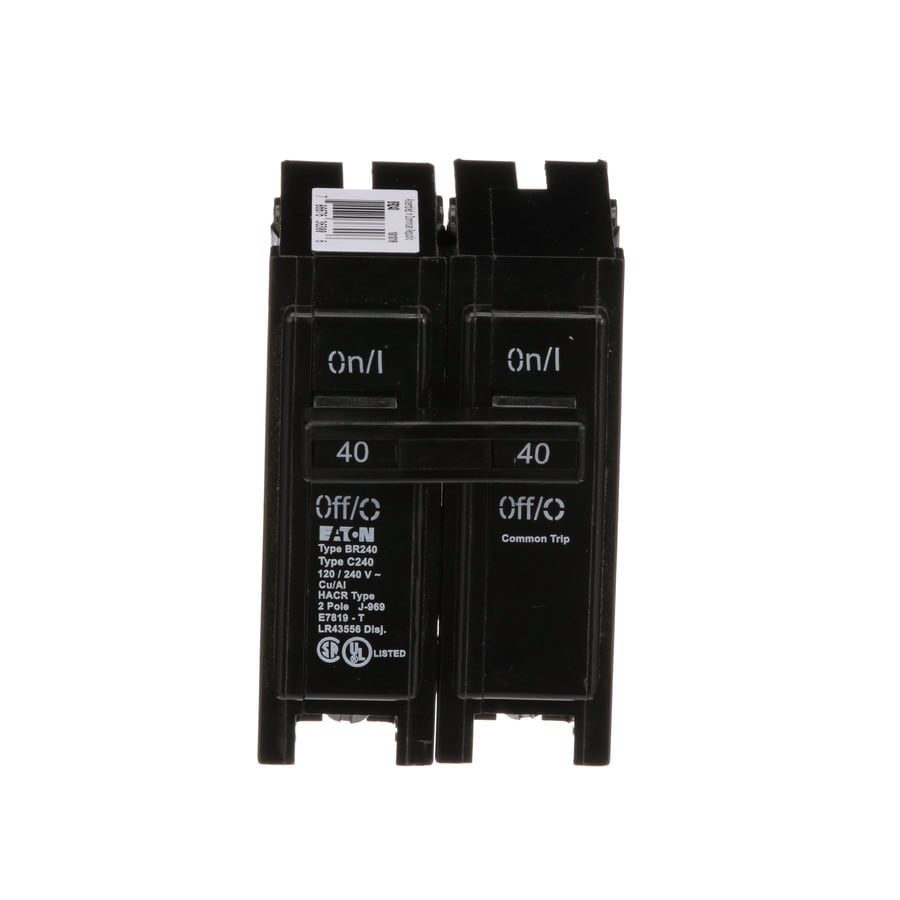 Eaton Type BR 40-Amp 2-Pole Circuit Breaker