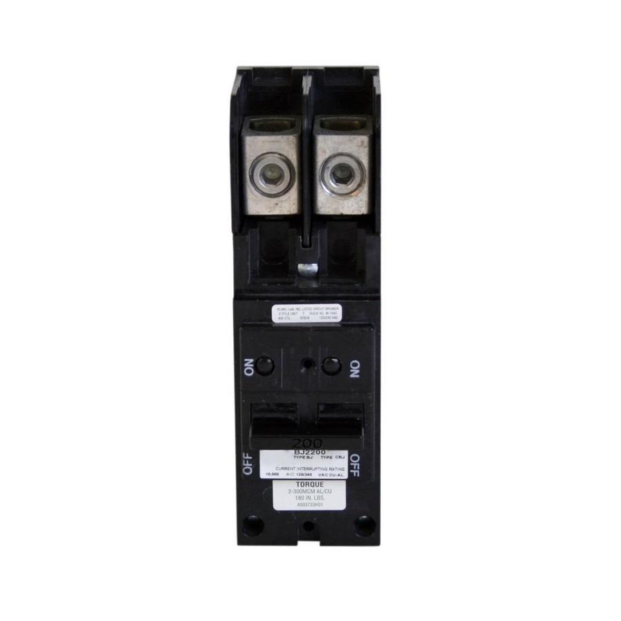 Eaton Type BR 200-Amp 2-Pole Main Circuit Breaker