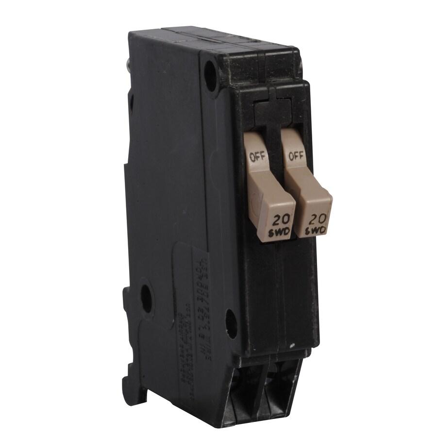 Eaton Type CH 20-Amp 2-Pole Tandem Circuit Breaker