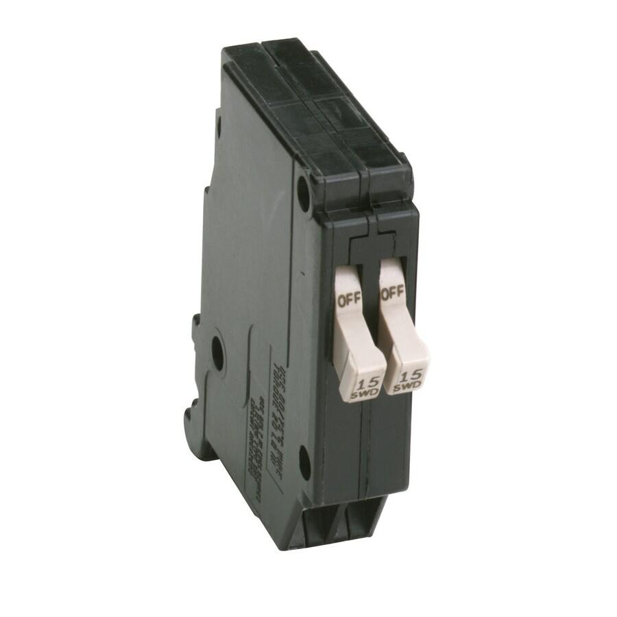Eaton Type CH 15-Amp 2-Pole Tandem Circuit Breaker
