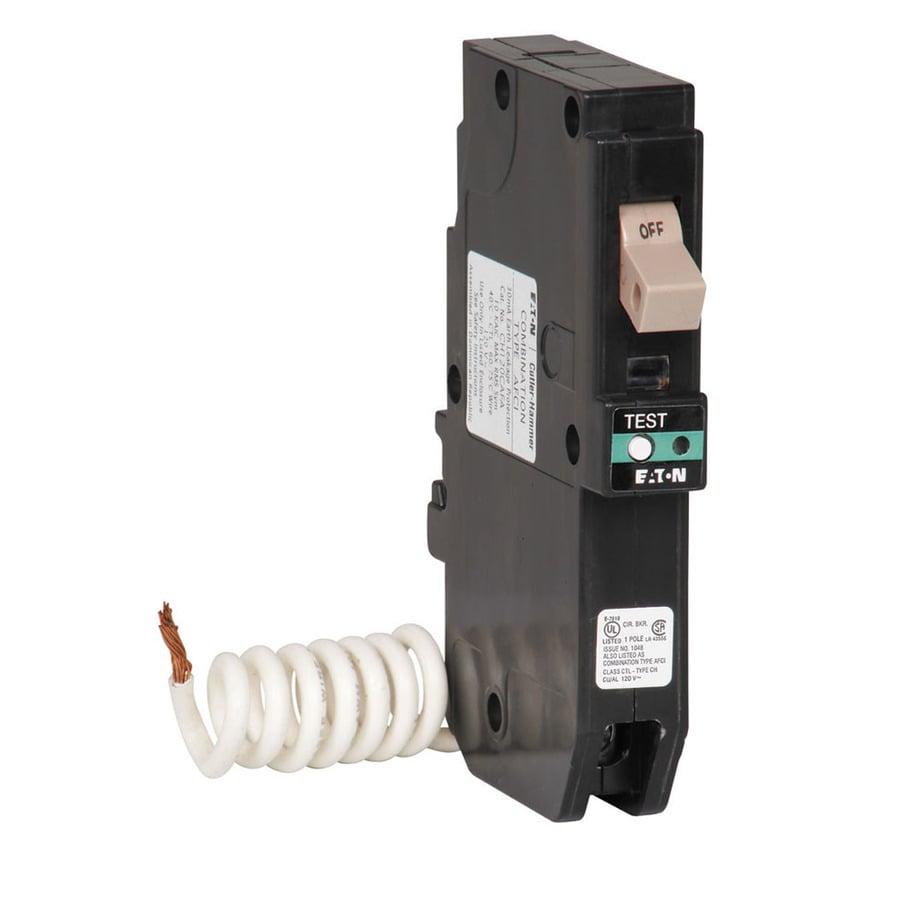 Eaton Type CH 20-Amp Combination Arc Fault Circuit Breaker