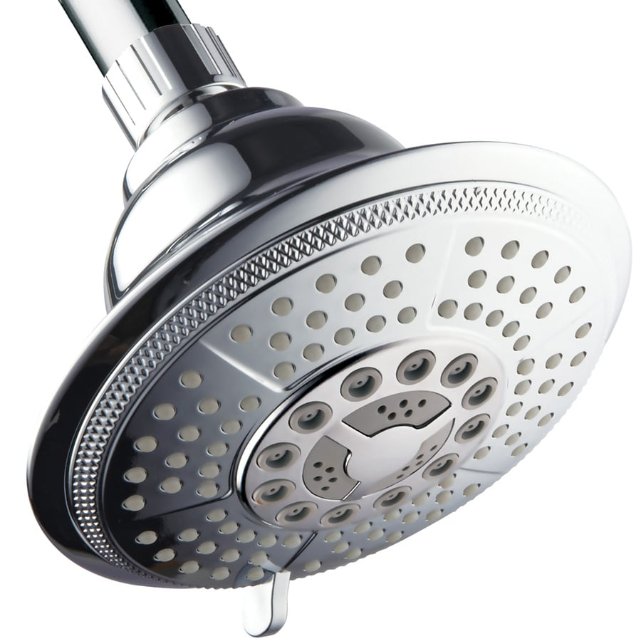 HotelSpa 5-in 2.5-GPM (9.5-LPM) Chrome 7-Spray Rain Showerhead