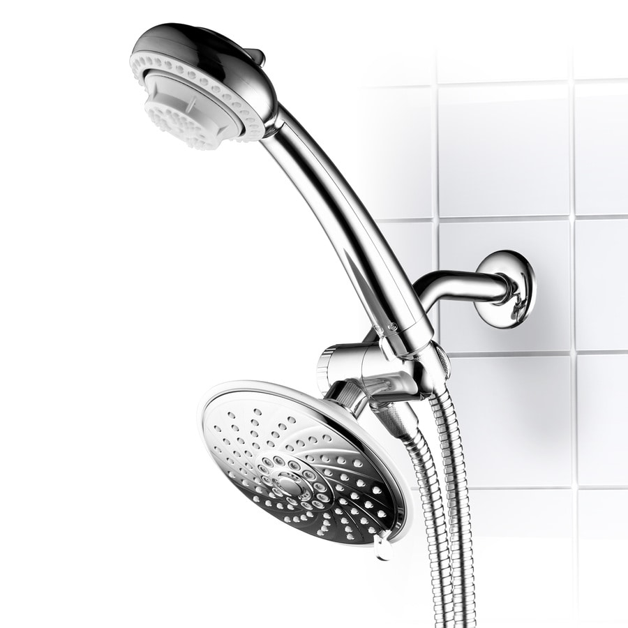6-in Chrome Showerheads with Hand Showers Product Photo