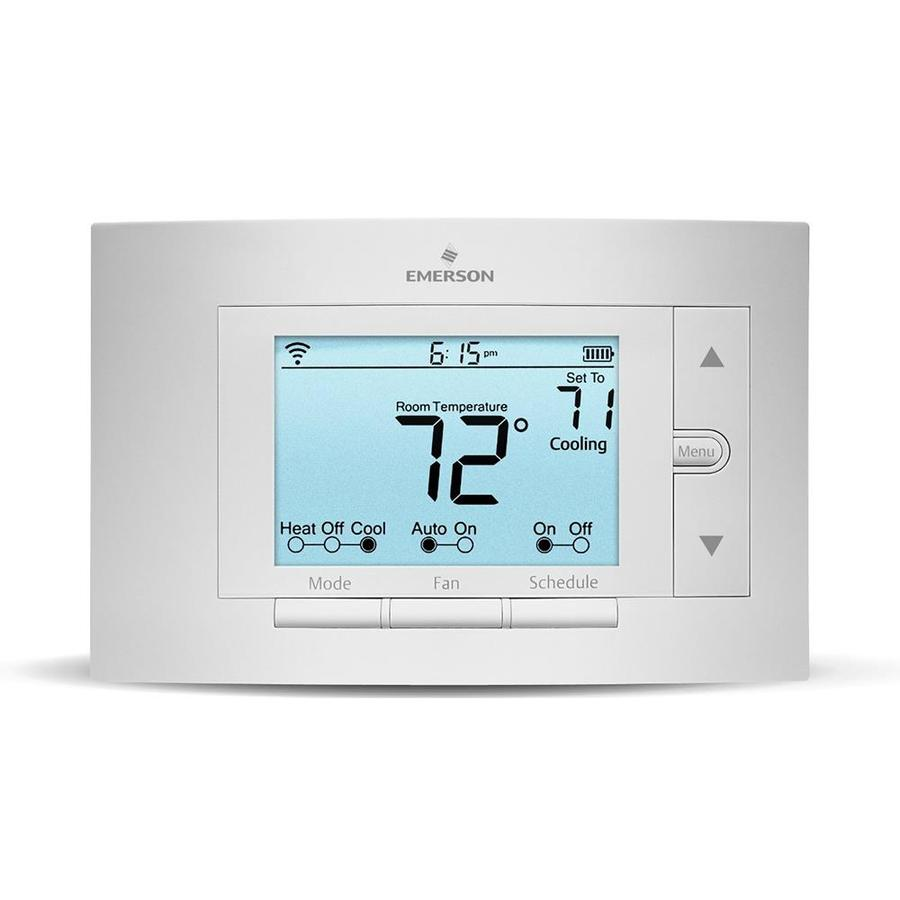 shop emerson sensi thermostat with built in wifi at lowes