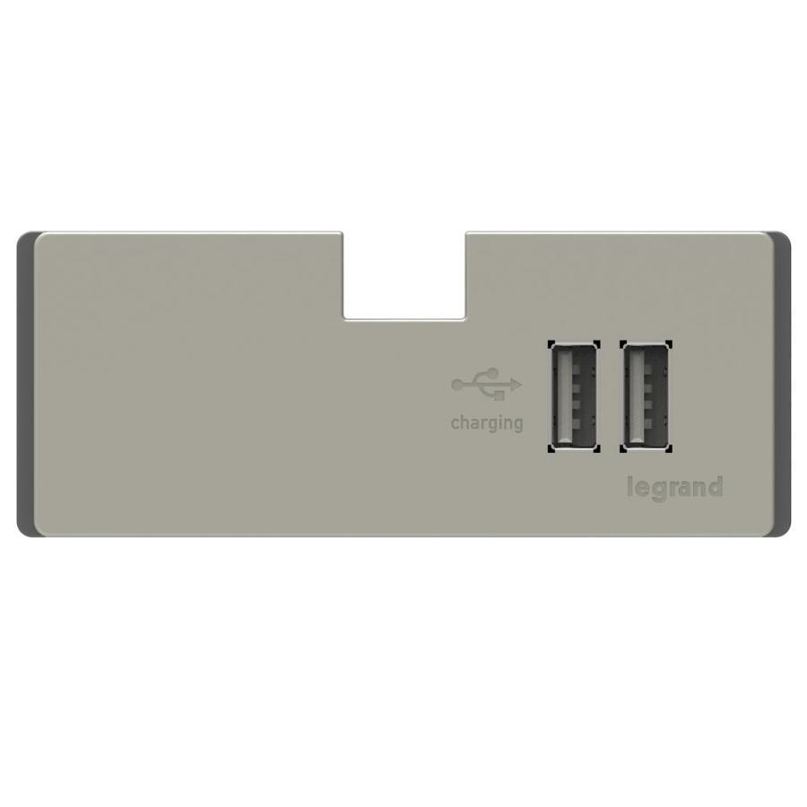 Legrand Adorne Titanium 2.1-Amp Outlet