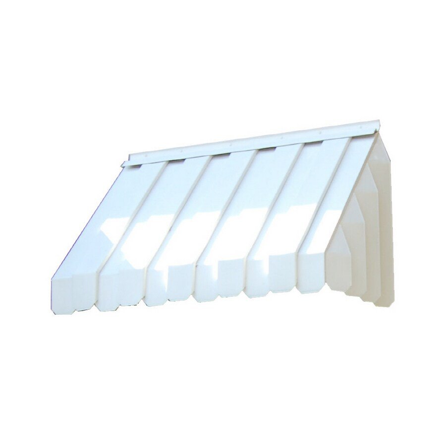 Americana Building Products 45-in Wide x 22-in Projection White Solid Slope Window Awning
