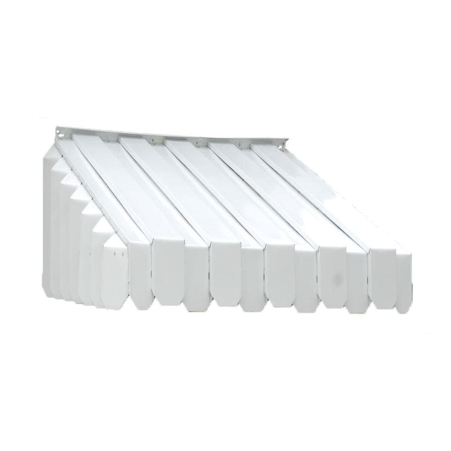 Americana Building Products 60-in Wide x 29-in Projection White Solid Slope Window Awning