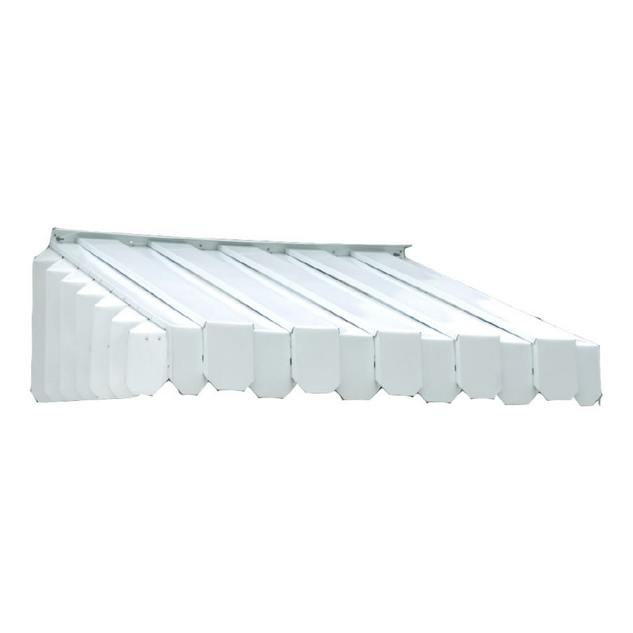 Americana Building Products 45-in Wide x 43-in Projection White Solid Slope Window/Door Awning