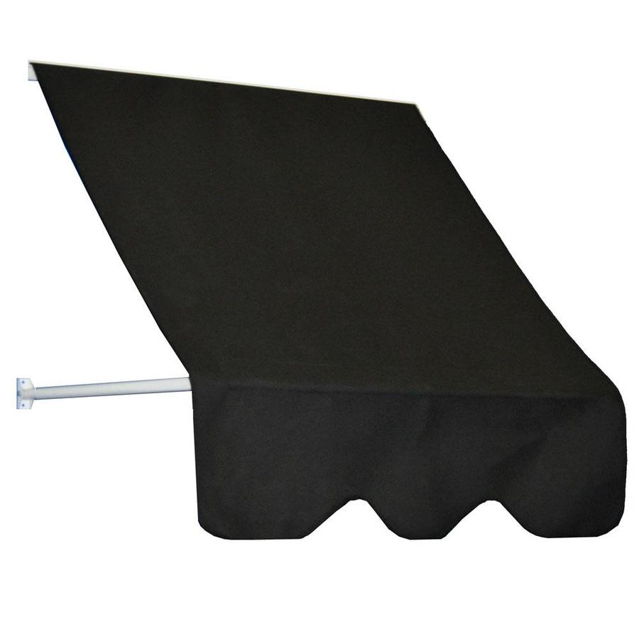 Americana Building Products 84-in Wide x 24-in Projection Black Open Slope Low Eave Window Retractable Manual Awning