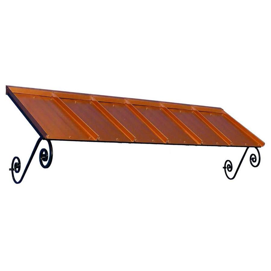 Americana Building Products 108-in Wide x 36-in Projection Copper Penny Solid Open Slope Window/Door Awning