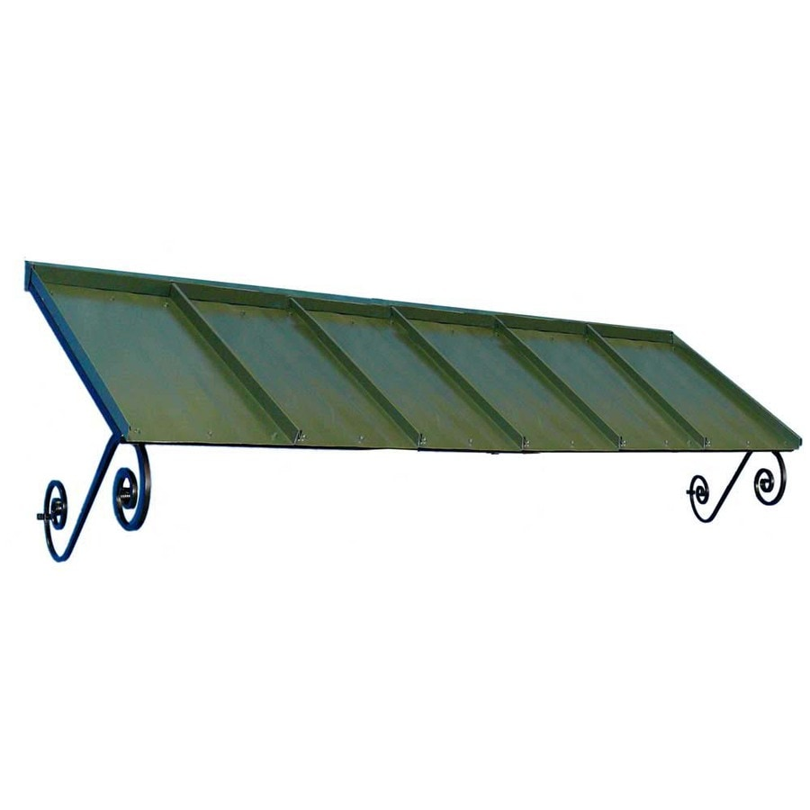 Americana Building Products 108-in Wide x 36-in Projection Dark Green Solid Open Slope Window/Door Awning