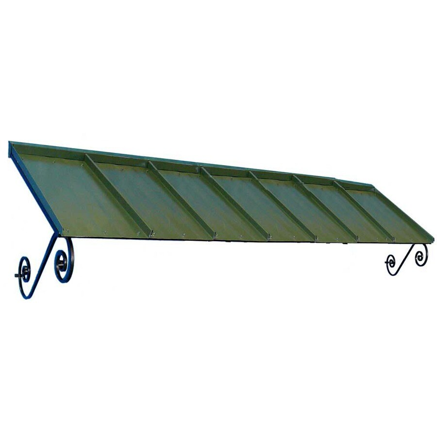 Americana Building Products 126-in Wide x 36-in Projection Dark Green Solid Open Slope Window/Door Awning