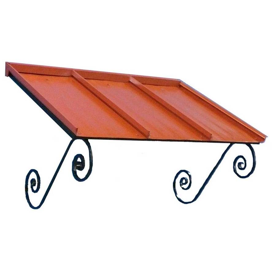Americana Building Products 54-in Wide x 36-in Projection Terra Cotta Solid Open Slope Window/Door Awning