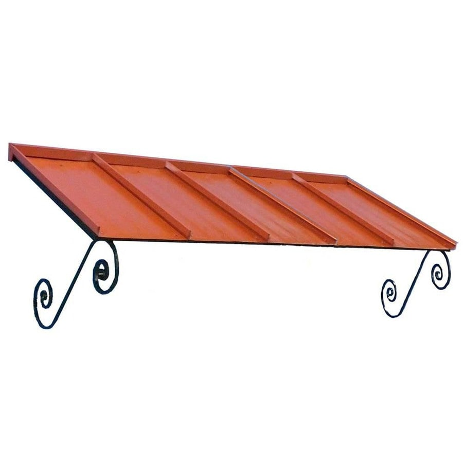 Americana Building Products 90-in Wide x 36-in Projection Terra Cotta Solid Open Slope Window/Door Awning