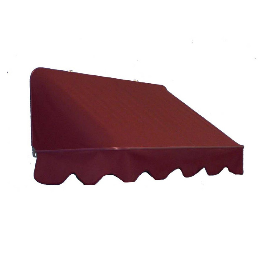Americana Building Products 42-in Wide x 30-in Projection Burgundy Solid Slope Window/Door Retractable Manual Awning