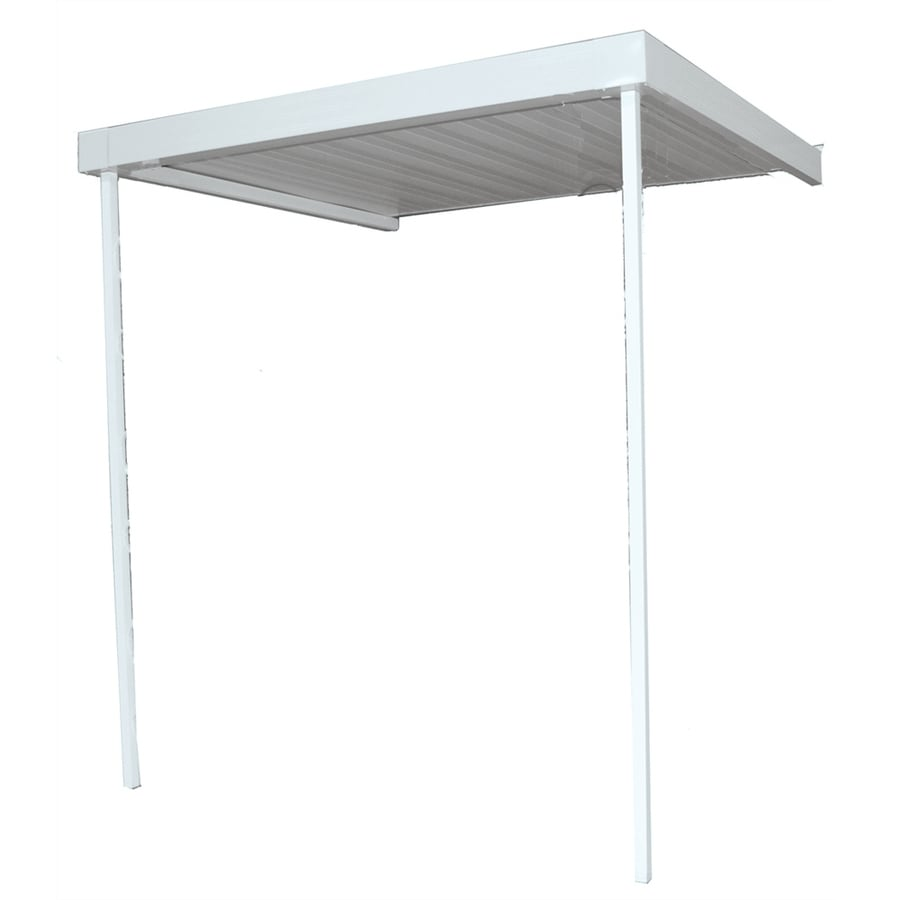Americana Building Products 10-ft Wide x 10-ft Projection White Open Slope Patio Awning