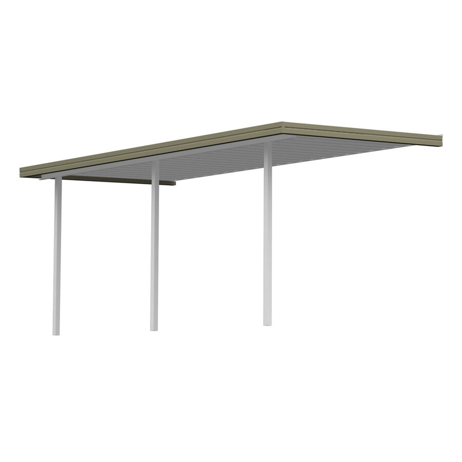 Americana Building Products 13.33-ft x 10-ft x 8-ft Clay Metal Patio Cover