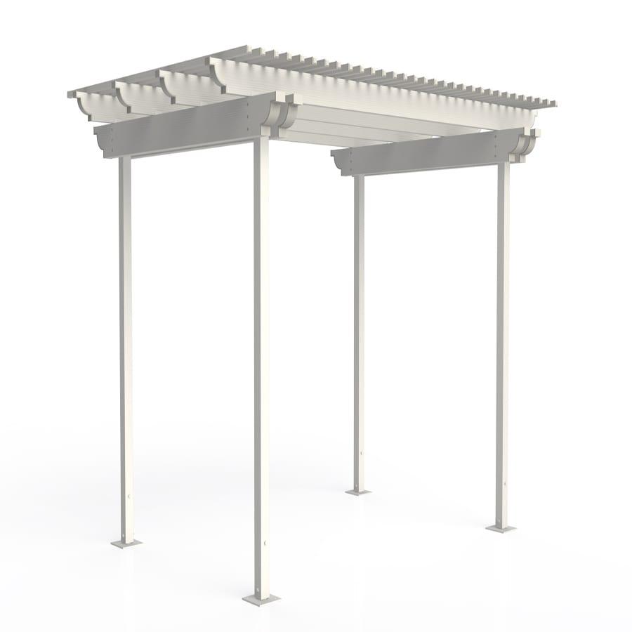 Americana Building Products 144-in W x 144-in L x 112.5-in H White Aluminum Freestanding Pergola