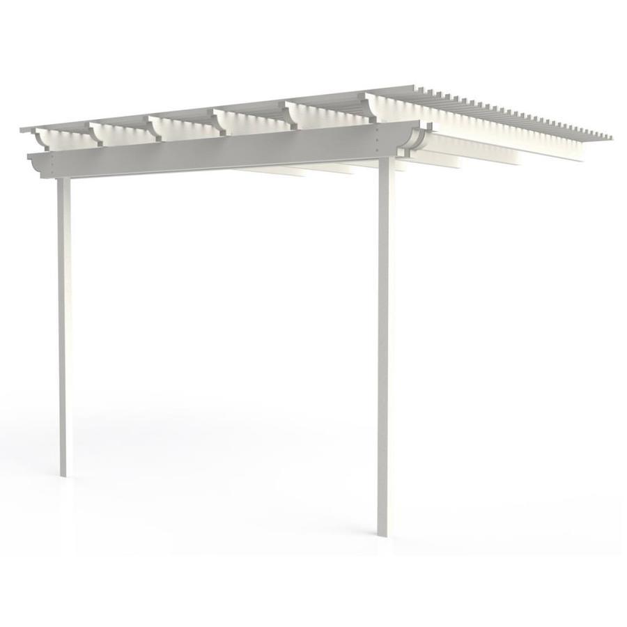 Americana Building Products 120-in W x 120-in L x 112.5-in H White Aluminum Attached Pergola
