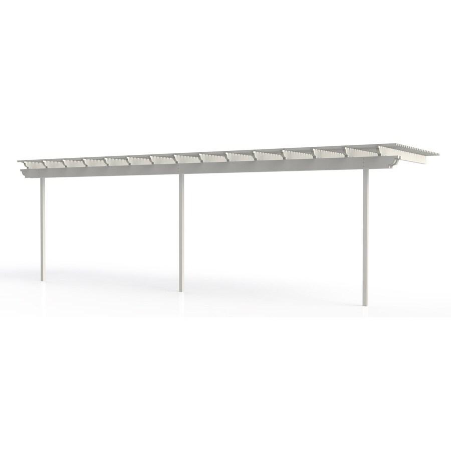 Americana Building Products 120-in W x 360-in L x 112.5-in H White Aluminum Attached Pergola