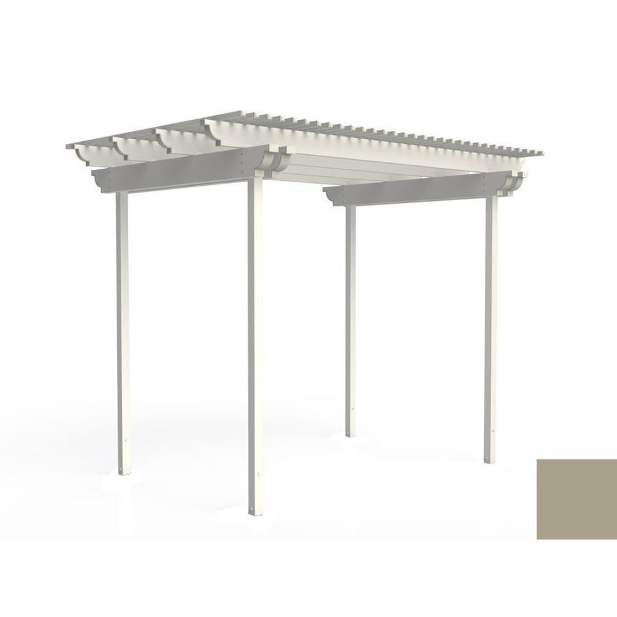 Americana Building Products 120-in W x 96-in L x 112.5-in H Adobe Aluminum Freestanding Pergola