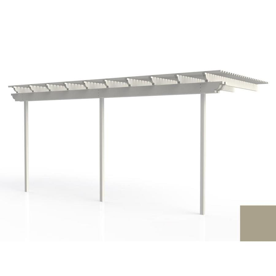 Americana Building Products 120-in W x 240-in L x 112.5-in H Adobe Aluminum Attached Pergola