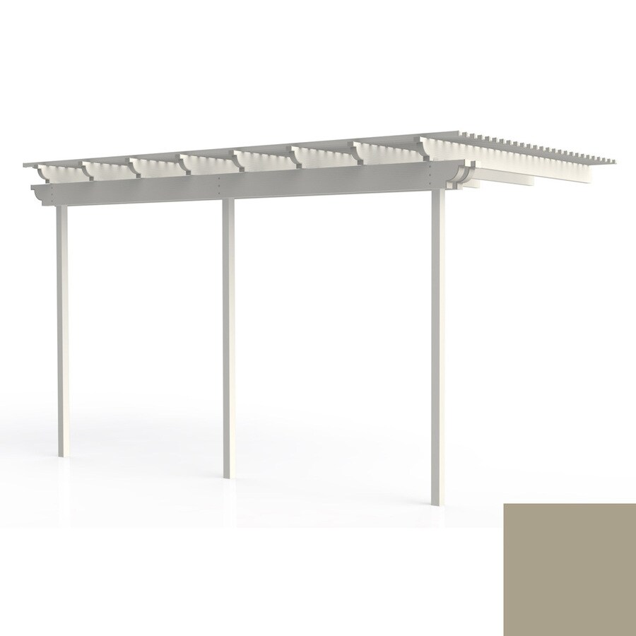 Americana Building Products 144-in W x 192-in L x 112.5-in H Adobe Aluminum Attached Pergola