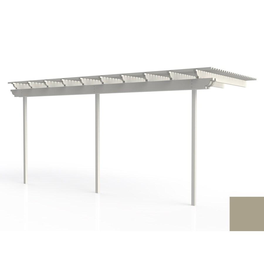 Americana Building Products 96-in W x 240-in L x 112.5-in H Adobe Aluminum Attached Pergola